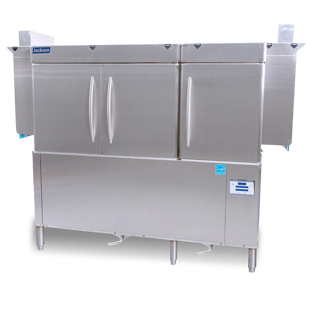 "Jackson RACKSTAR66 66"" High Temp Conveyor Dishwasher w/ Booster Heater, 223-Racks/Hr Capacity"