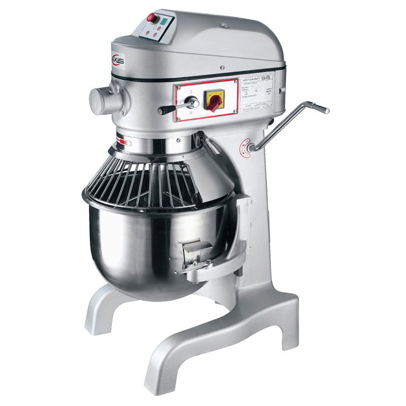 Axis AXM20 Commercial Planetary Mixer, 20 qt, Gear Driven, 3 Speed, Digital Timer