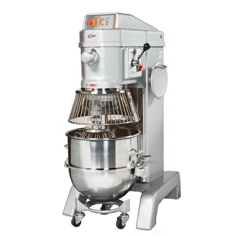 Axis AXM80 Commercial Planetary Mixer, 80 qt, Gear Driven, 4 Speed, Digital Timer