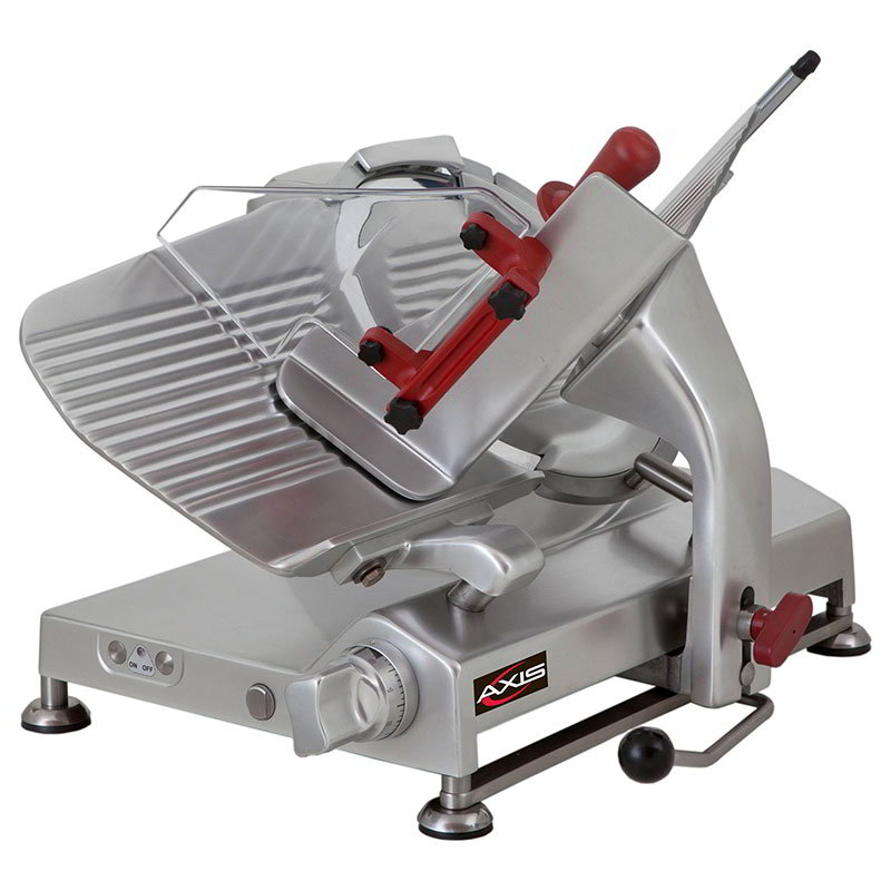 "Axis AX-S13G 13"" Meat Slicer for Sausage, Meat & Cheese, Gravity Feed Gear Driven, .5-hp"