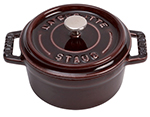 Staub 1101007 Mini La Cocotte w/ .25-qt Capacity & Enamel Coated Cast Iron, Aubergine
