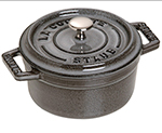 Staub 1101018 Mini Round La Cocotte w/ .25-qt Capacity, Enamel Coated Cast Iron, Graphite Grey