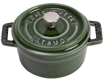 Staub 1101085 Mini Round La Cocotte w/ .25-qt Capacity & Enamel Coated Cast Iron, Basil