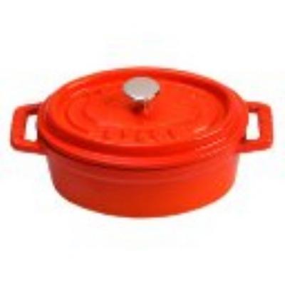 Staub 110 11 59 Enameled Cast Iron Mini La Cocotte, Oval, 1/4 qt, Orange