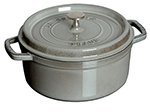 Staub 1101718 Mini Oval Cocotte w/ 1-qt Capacity & Enamel Coated Cast Iron, Graphite Grey