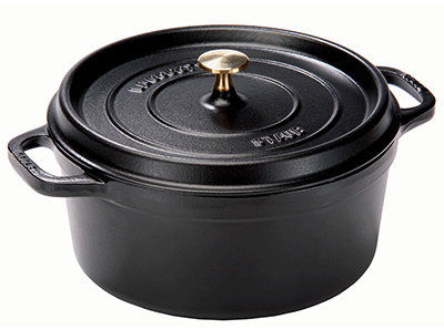 Staub 1101725 Mini Oval Cocotte w/ 1-qt Capacity & Enamel Coated Cast Iron, Black Matte