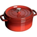 Staub 1102206 Round Cocotte w/ 2.75-qt Capacity & Enamel Coated Cast Iron,