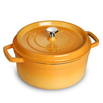 Staub 1102212 Round Cocotte w/ 2.75-qt Capacity & Enamel Coated Cast Iron, Saffron