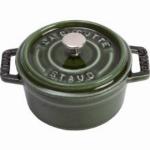 Staub 1102285 Round Cocotte w/ 2.75-qt Capacity & Enamel Coated Cast Iron, Basil