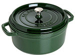 Staub 1102485 Round La Cocotte w/ 4-qt Capacity & Enamel Coated Cast Iron, Basil