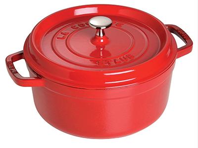 Staub 1102606 Round La Cocotte w/ 5-qt Capacity & Enamel Coated Cast Iron, Cherry