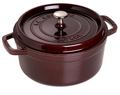 Staub 1102607 Round La Cocotte w/ 5-qt Capacity & Enamel Coated Cast Iron, Eggplant
