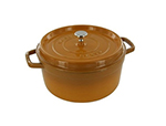 Staub 1102812 Round La Cocotte w/ 7-qt Capacity & Enamel Coated Cast Iron, Saffron.