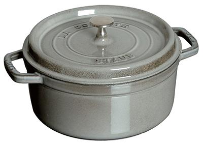 Staub 1102618 Round La Cocotte w/ 5-qt Capacity & Enamel Coated Cast Iron, Graphite Grey