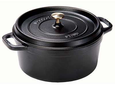 Staub 1102625 Round La Cocotte w/ 5-qt Capacity & Enamel Coated Cast Iron, Black Matte