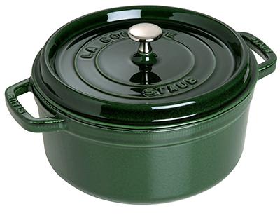 Staub 1102685 Round La Cocotte w/ 5-qt Capacity & Enamel Coated Cast Iron, Basil