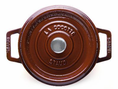 Staub 1103087 Round La Cocotte w/ 9-qt Capacity & Enamel Coated Cast Iron, Grenadine