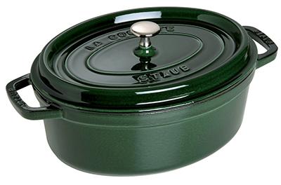 Staub 1103385 Oval La Cocotte w/ 7-qt Capacity & Enamel Coated Cast Iron, Basil