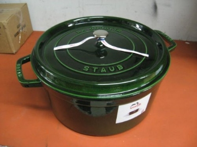 Staub 1103485 Round Cocotte w/ 13.25-qt Capacity & Enamel Coated Cast Iron, Basil
