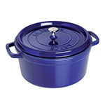 Staub 1103491 Round Cocotte w/ 13.25-qt Capacity & Enamel Coated Cast Iron, Dark Blue