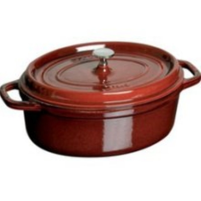 Staub 1103787 Oval Cocotte w/ 8.5-qt Capacity & Enamel Coated Cast Iron, Grenadine