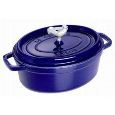 Staub 1122991 Coq Au Vin Cocotte w/ 4.25-qt Capacity, Dark Blue