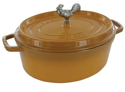 Staub 1123112 Coq Au Vin Pot w/ 5.75-qt Capacity & Enamel Coated Cast Iron, Saffron