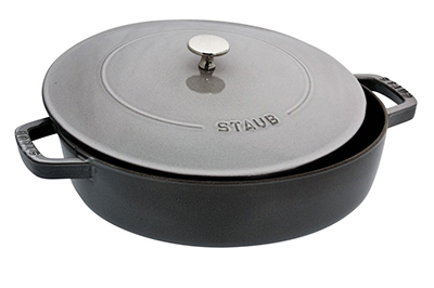 Staub 1162818 Saute Pan Braiser w/ 4-qt Capacity, Graphite Grey