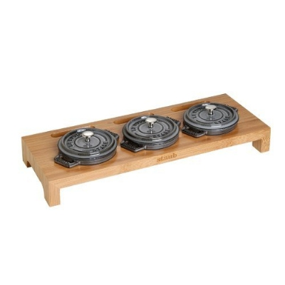 Staub 1190698 Bamboo Miniature Cocotte Stand