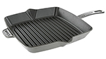 Staub 1202918 10x10-in American Square Grill, Graphite Grey