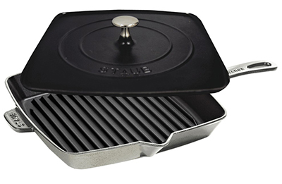 Staub 1209918 12-in Grill Press Combo, Graphite Grey