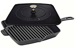Staub 1209923 12-in Grill Press Combo, Black Matte