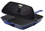 "Staub 1209991 12"" Grill Press Combo, Dark Blue"