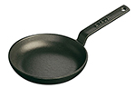 Staub 1221223 4.75-in Mini Frying Pan w/ 4-oz Capacity & Enamel Coated Cast iron, Black Matte