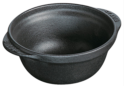 Staub 1243023 Classic Bowl w/ .25-qt Capacity & Enamel Coated Cast Iron, Black