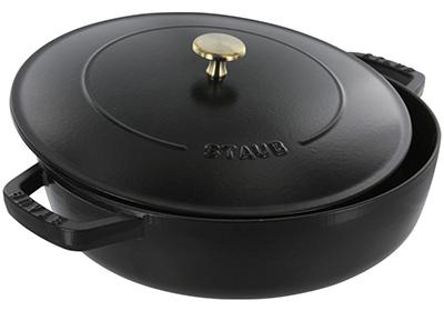 Staub 1262525 Saute Pan Braiser w/ 2.75-qt Capacity, Black Matte