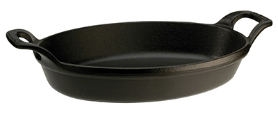 Staub 1302123 Oval Stackable Dish w/ .75-qt Capacity & Enamel Coated Cast Iron, Black Matte