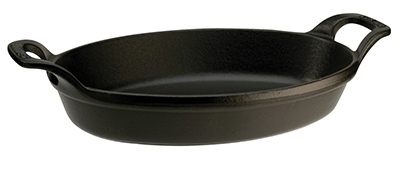 Staub 1302323 Stackable Oval Dish w/ 1-qt Capacity & Enamel Coated Cast Iron, Black Matte
