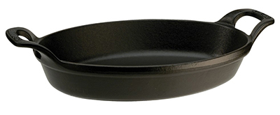 Staub 1302923 Stackable Oval Dish w/ 1.5-qt Capacity & Enamel Coated Cast Iron, Black Matte