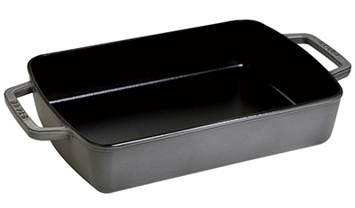 "Staub 1303023 8x12"" Small Baker w/ 3.25-qt Capacity & Enamel Coated Cast Iron, Black"