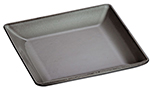 Staub 1331718 9.38-in Square Dinner Plate w/ Enamel Coated Cast Iron, Graphite