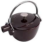 Staub 1650007 Round Teapot w/ 1-qt Capacity & Enamel Coated Cast Iron, Eggplant