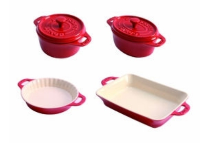 Staub 1872006 Mini Ceramic 4 Piece Bakeware Set,