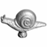 Staub 40509-348-9 Staub Knob, Snail, Stainless Steel