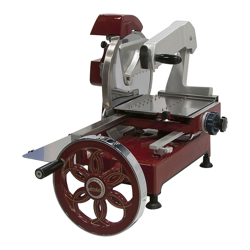 "Berkel 300M 12"" Fly Wheel Slicer w/ Carbon Steel Knife, Guard & Integrated Dual Sharpener"