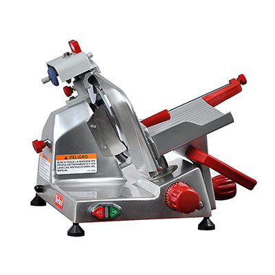 "Berkel 823E-PLUS 9"" Round Manual Slicer w/ Angled Gravity Feed & Knife Guard, Sharpener"