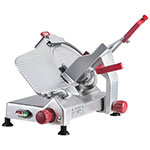 "Berkel 825A-PLUS 10"" Round Manual Slicer w/ Angled Gravity Feed & Knife Guard, Sharpener"