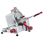 "Berkel 825E-PLUS 10"" Round Manual Slicer w/ Angled Gravity Feed & Knife Guard, Sharpener"