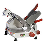 Berkel 827E-PLUS 12-in Round Manual Slicer w/ Angled Gravity Feed & Knife Guard, Sharpener