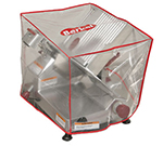Berkel SLCRCVR-SM Small Slicer Cover w/ Red Border & Logo, Clear Vinyl